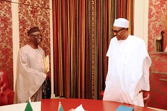 President Buhari receives in audience Pastor Tunde Bakare in Statehouse2