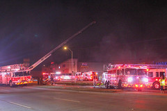 4 Alarm on Harry Hines Blvd (Dallas) (Shane Murphy - Photojournalist) Tags: dallas fire department dfd dfw photojournalism photojournalist canon 7d breaking news structure working 4 alarm box harry hines aerial defensive ops fireground emergency response responder first scene