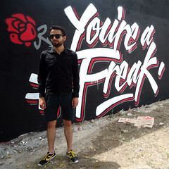 You're a Freak (Abel Snchez.) Tags: lettering letters freak creep panam wall art handwritting