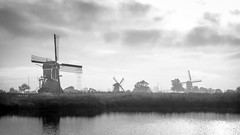 160917_SAM_8722 (Jan Jacob Trip) Tags: leiderdorp munnikenpolder molen water windmill cloud sky bw white black netherlands landscape