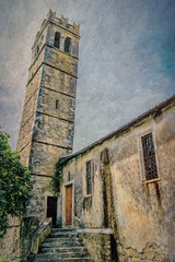 SL120616 Zavrje 19 (Sh4un65_Artistry) Tags: artwork buildings churches croatia croatiaholiday2016 digitalart digitalpainting events landscape painteffect paintedphoto painterly places steps textured topaz topazimpression topaztextureeffects thebelltowerofthechurchofstmaryourladyoftherosary zavrje