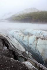 Ice from Iceland (loddeur) Tags: gletsjer ijsland glacier svinafellsjokull extremeiceland hike tour outdoor fog mist ice iceland tourism landscape gletscher