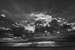 Sunrays (arkland_swe) Tags: sunray cloud cloudporn bnw monochrome gotland sweden explore explored
