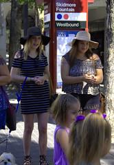 Skidmore Fountain (swong95765) Tags: ladies females women girls skidmore street hat visit dog