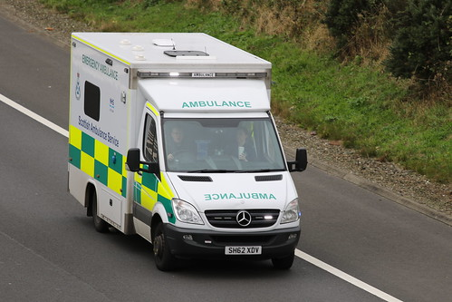 MOSS SH62 XDV MERCEDES SPRINTER SCOTTISH AMBULANCE SERVICE