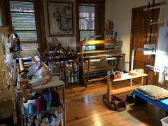 Weaving studio (D L Rigter) Tags: weavingstudiodlrigter looms weaving tapestryweavingstudio tapestryweaverstudio