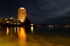 on a night like this (keith midson) Tags: wrestpoint casino hobart tasmania reflection water night evening still calm serene sandybay building architecture sigma 24mm f14 art
