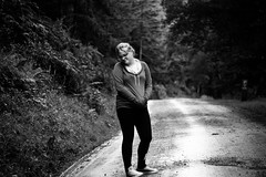 She said that she doesn't smile ! (Joshua Maguire Photography) Tags: fine art travel hiking adventure nature texture blackwhite portrait somerset forest