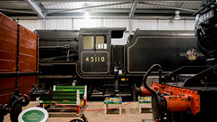 LMS Class 5 4-6-0 45110 Engine House Severn Valley Railway 3 September 2016 (BaggieWeave) Tags: svr severnrailwayrailway worcestershire shropshire steamlocomotive steamengine steam steamtrain steamrailway 45110 460 lms enginehouse highley black5