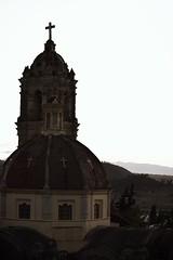 Cpula y campanario (Mario Adalid) Tags: edomex coatepec ixtapaluca estado mexico mejico iglesia church ancient virreinal colonial