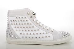 Philipp Plein Shout High-Top Sneaker Kalbsleder wei (white) (2) (spera.de) Tags: philipp plein shout hightop sneaker kalbsleder weis white philippplein damensneakers