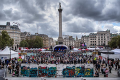 Japanese Festival in Trafalgar Square 2016 (cuppyuppycake) Tags: trafalgar square london japanses festival 2016 crowd outdoors people graffitti