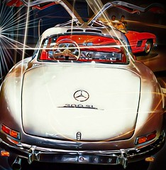 300 SL Mercedes-Benz Gullwing (eagle1effi) Tags: stuttgart mercedes benz museum germany damncool effiart vinci xnretro aviary lumix tz41 artexpression art dark w198 badenwrttemberg erwin effinger copyright