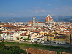 Piazzale Michelangelo (terri-t) Tags: florence piazzale michelangelo viewpoint view arno river duomo campanile italy city panorama