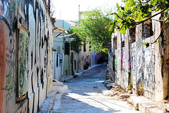 street (Katrinitsa) Tags: plaka athens greece anafiotika colors shadows canon  nature city cityscape architecture view graffiti cityview street neighbourhood morning shadow ef35mmf14lusm