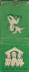 The Setter Family, No. 4 by Colgate Matchbook (Guy Clinch) Tags: matchbook ephemera advertisement dog puppy