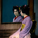 Digital Oil Painting of a Japanese Woman Sitting before a Mirror by Charles W. Bailey, Jr.