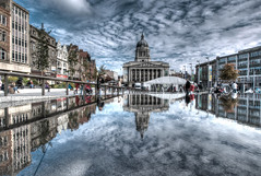 Old Market Square and the Council House (DaveKav) Tags: nottingham uk house reflection reflections olympus council nottinghamshire oldmarketsquare e510