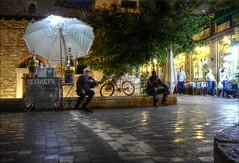 Some survive any crisis! (Hans Kool) Tags: news coffee umbrella square greek politics protest culture athens greece starbucks plein crisis journalism athene politiek athenas griekenland griek grieks ermou monastiráki