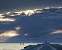 Terminus (tvc415) Tags: sea sky sun water clouds islands jetty