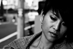 because punctuation just confuses things (MdKiStLeR) Tags: street portrait urban bw woman japan contrast tokyo asia mood bokeh candid shibuya wife 2012 urbanx mdkistler becausepunctuationjustconfusesthings