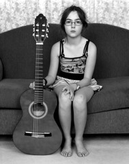 Sophie And Guitar (Ashley The Hoff) Tags: 4x5 toyo arista v700