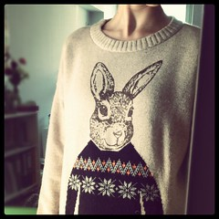 best jumper ever (aeronomy) Tags: self anorexia superawesome selfconscious notcool sizel doesntlikeit bunnyjumper ridiculoussizing obviouslyimalargewadoflard