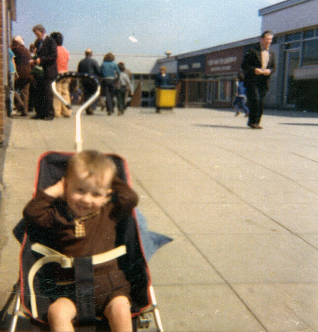 Micks Old Baby Pram Photograph, 1970