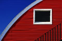Simply Color (Abel AP) Tags: building window sky handrail tracygarage tracy california urban metal corrugatedmetal abelalcantarphotography geometric architecture minimalism usa