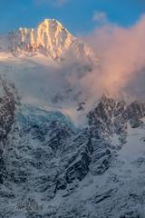 Mount Shuksan  North Cascades National Park (janusz l) Tags: park county sunset snow cold colors clouds washington nationalpark highway mt pyramid state north glacier mount cascades summit shuksan whatcom janusz leszczynski 211820 11172012