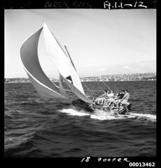 18 footer NERANG II on Sydney Harbour