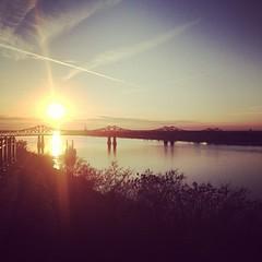 Natchez Sunset (Visit Natchez, MS) Tags: sunset river mississippi walking landscapes view southern american ms mississippiriver natchez bluff mightymississippi natchezms