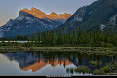 Third Vermilion Lake sunset (pDOTeter) Tags: sunset lake canada reflection water alberta banff vermilion vermilionlake
