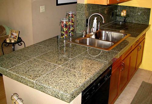 Granite tile countertops 1