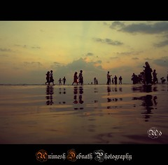 horizon (Animesh2000) Tags: ocean road travel blue light sunset red sea people orange cloud india flower macro reflection men art home nature floral beautiful leaves night work photography mono pattern artistic dusk kerala human photograph calicut animesh debnath