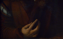 Dürer, Self-Portrait, detail with hand