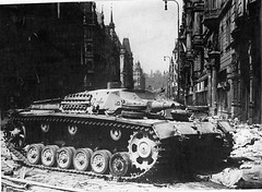 Stug IIIB. Prague, 1945. (Krueger Waffen) Tags: war tank wwii armor armored waffenss tanks panzer secondworldwar afv worldwartwo antitank tracked wehrmacht sdkfz sturmgeschtz stug germantank pzkpfw tankhunter panzerjager assaultgun selfpropelledgun panzerjger germanarmor destroyedtank secondworldwartanks worldwattwotanks