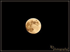 September 28, 2012 Nearly Full Moon (Kelly D Photography) Tags: sunset moon clouds nikon bluesky luna crescent fullmoon solarsystem moonphases crescentmoon impactcraters nikond90 wesleychapelfl volcanicmaria