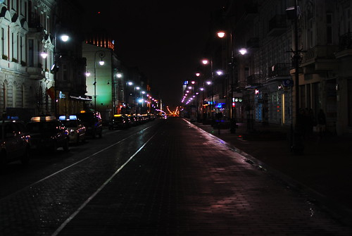 ŁÓDŹ by night