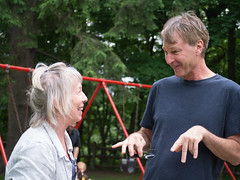 (jensl) Tags: family playground kids vermont swings visit tourist goodbye brattleboro russ vt