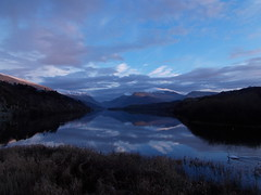 Winter sunset lake Padarn Llanberis (ohefin) Tags: winter sunset lake nikon snowdon padarn l26