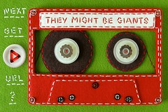 Felt Cassette Tape for They Might Be Giants' iPhone App! (hine) Tags: red music green art analog geek handmade craft felt retro theymightbegiants url tmbg app cassettetape iphone hine