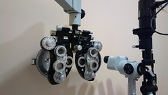Optician's eye testing equipment