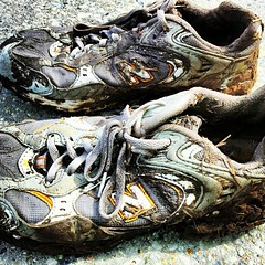 my dirty kicks after a 5k obstacle course