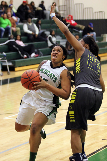 Senior Danielle Thomas scored a team high 14 points, hitting two three-pointers in the loss to Goldey-Beacom