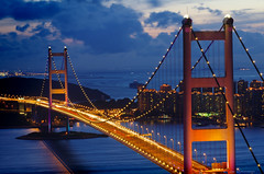 Tsing Ma Bridge (adam1801ng) Tags: longexposure bridge night hongkong lights pentax k5 tsingmabridge