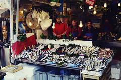 fish (Isobeliz) Tags: blue people fish turkey nikon istanbul business trade fishmarket fishmonger spicemarket