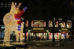 Snowman. Christmas lights. Kurfrstendamm in Berlin. (elsa11) Tags: santa christmas berlin weihnachten weihnachtsmarkt christmaslights christmasdecorations santaclaus kerstmis kerst kerstmarkt kurfrstendamm berlijn kthewohlfahrt weihnachtsbeleuchtungamkurfrstendamm wiehnachtsbeleuchtung