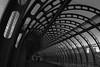 Curves in black and white (and the moon rose) Tags: city bridge urban blackandwhite london architecture poplar dlr londonist poplardlrstation dlrstation