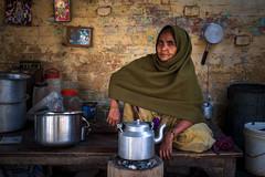 @Varanasi | India (ayashok photography) Tags: ayp3090 varanasi india woman tea teashop portrait up uttarpradesh